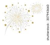 firework design on white... | Shutterstock .eps vector #307943660