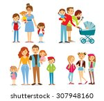 family and kids | Shutterstock .eps vector #307948160