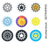 set of medal icons in different ... | Shutterstock .eps vector #307949993