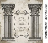 antique and baroque classic... | Shutterstock .eps vector #307951850