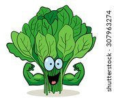 cartoon character of spinach... | Shutterstock .eps vector #307963274