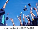 high school students graduates... | Shutterstock . vector #307966484