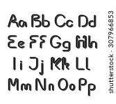 vector 3d black font alphabet   ... | Shutterstock .eps vector #307966853
