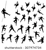 Rock Climber Silhouettes  ...