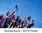 high school students graduates... | Shutterstock . vector #307975460