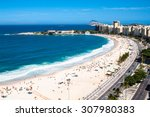 panoramic view on copacabana... | Shutterstock . vector #307980383