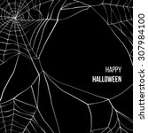 black background with spider... | Shutterstock .eps vector #307984100