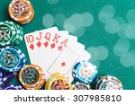 poker. cards and chips | Shutterstock . vector #307985810
