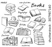 doodle book collection   vector ... | Shutterstock .eps vector #307987160