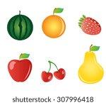 fruit   Shutterstock .eps vector #307996418