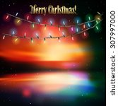 abstract sunrise background...   Shutterstock .eps vector #307997000