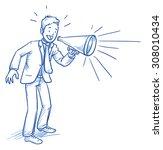 business man smiling happy... | Shutterstock .eps vector #308010434