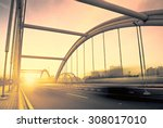 road through the bridge with... | Shutterstock . vector #308017010