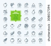 outline web icon set   fruit... | Shutterstock .eps vector #308017394
