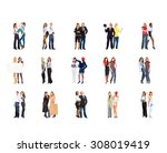 together we stand business... | Shutterstock . vector #308019419