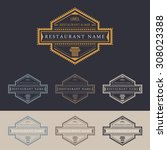 restaurant and bar logo marks... | Shutterstock .eps vector #308023388