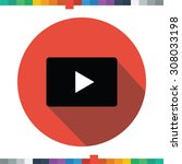flat play button icon in a... | Shutterstock .eps vector #308033198