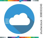 flat clouds and wind icon in a... | Shutterstock .eps vector #308033240