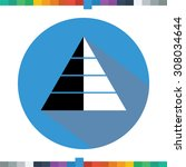 flat pyramid icon in a blue... | Shutterstock .eps vector #308034644