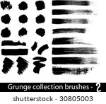 grunge brushes line | Shutterstock .eps vector #30805003