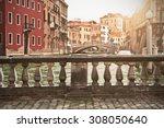 Gray Old Bridge In Venice