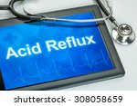 tablet with the diagnosis acid...   Shutterstock . vector #308058659