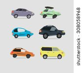 vector set of various urban... | Shutterstock .eps vector #308058968