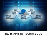 cloud computing devices | Shutterstock . vector #308061308