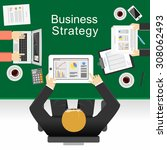 business strategy concept... | Shutterstock .eps vector #308062493
