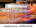 Glasses At A Bar Counter