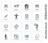 medical   health care icons set.... | Shutterstock .eps vector #308064950
