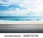 road on tropical beach   Shutterstock . vector #308070740