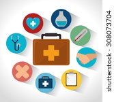 medical healthcare design ... | Shutterstock .eps vector #308073704