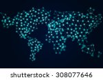 world map vector mosaic art | Shutterstock .eps vector #308077646