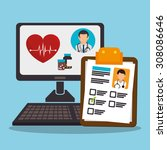 medical healthcare design ... | Shutterstock .eps vector #308086646