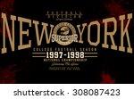 tee graphics newyork college...   Shutterstock .eps vector #308087423