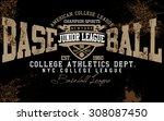tee graphics brooklyn college...   Shutterstock .eps vector #308087450
