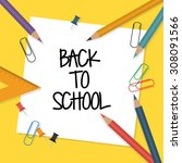 back to school vector... | Shutterstock .eps vector #308091566