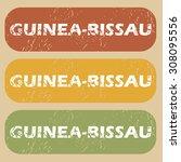 guinea bissau stamp | Shutterstock . vector #308095556