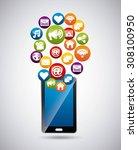 social media design  vector... | Shutterstock .eps vector #308100950