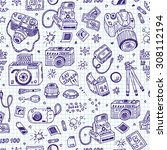 vector seamless pattern of... | Shutterstock .eps vector #308112194
