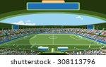 soccer stadium | Shutterstock .eps vector #308113796