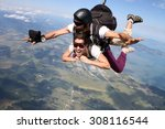 Skydiving Tandem Happy Young...
