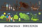 illustration of comparison... | Shutterstock .eps vector #308132426