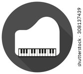 piano icon on white circle with ... | Shutterstock .eps vector #308137439