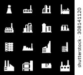 vector white factory icon set. | Shutterstock .eps vector #308141120