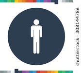 flat male stick figure icon in... | Shutterstock .eps vector #308144786