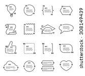 quote blank vector template set.... | Shutterstock .eps vector #308149439