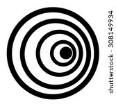 black target | Shutterstock .eps vector #308149934