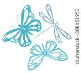 butterflies design | Shutterstock . vector #308151950